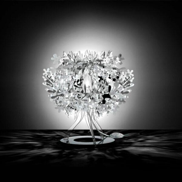 Slamp Tischleuchte Fiorellina Silber Milieu