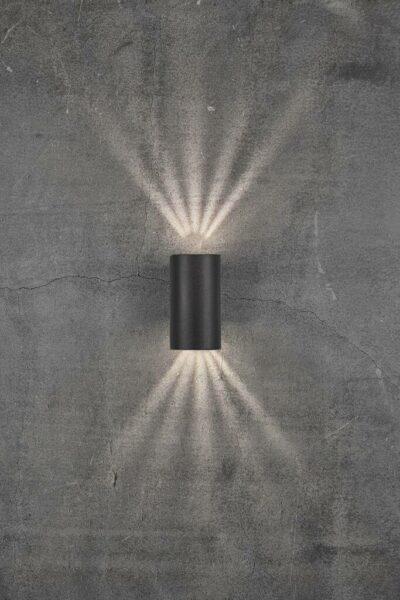 Nordlux Wandaußenleuchte Asbol Schwarz Lichtwirkung
