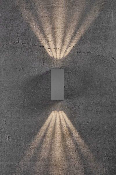 Nordlux Wandaußenleuchte Asbol Kubi Grau Lichtwirkung