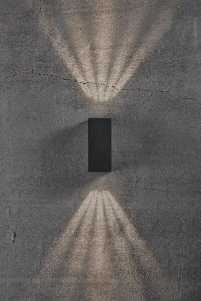 Nordlux Wandaußenleuchte Asbol Kubi Schwarz Lichtwirkung