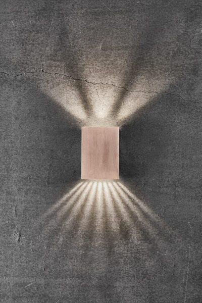 Nordlux Wandaußenleuchte Fold 10 Kupfer Lichtwirkung