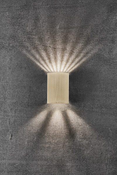 Nordlux Wandaußenleuchte Fold 10 Messing Lichtwirkung