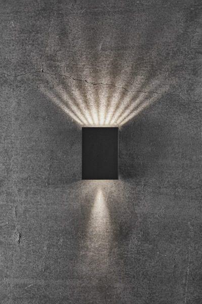 Nordlux Wandaußenleuchte Fold 10 Schwarz Lichtwirkung