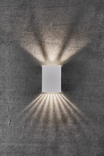 Nordlux Wandaußenleuchte Fold 10 Weiß Lichtwirkung
