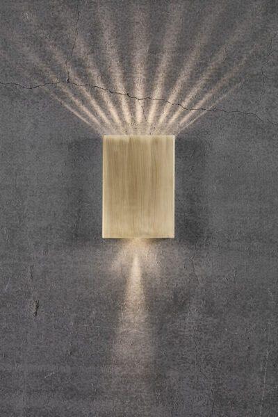 Nordlux Wandaußenleuchte Fold 15 Messing Lichtwirkung