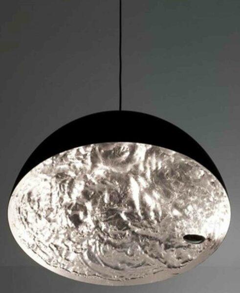 Catellani & Smith Pendelleuchte Stchu-Moon 02 Silber Detail