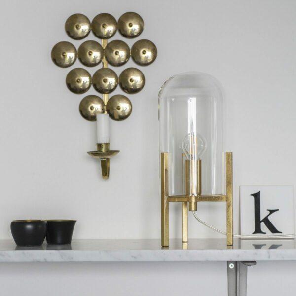 By Rydéns Tischleuchte Smokey Klarglas/Gold Milieu