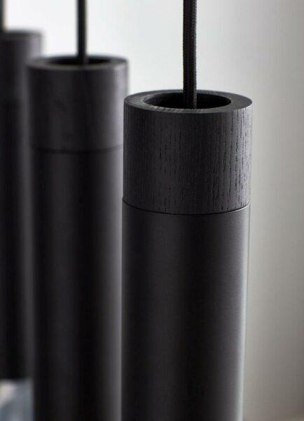 Nordlux Pendelleuchte Tilo Schwarz fünfflammig, Milieu Detail Leuchtenschirm