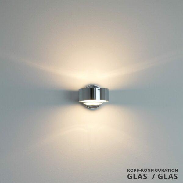 Top Light Wandleuchte Puk Kopf Glas/Glas