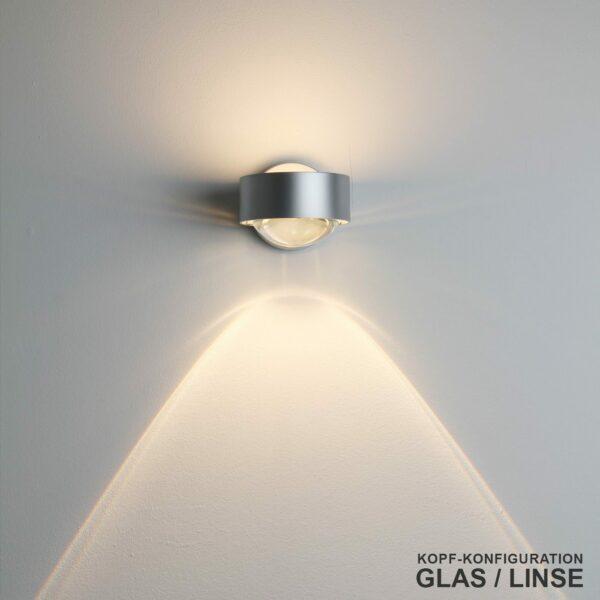 Top Light Wandleuchte Puk Kopf Glas/Linse