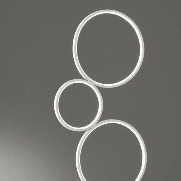 Trio Stehleuchte Rondo 3-Step-Dim Weiß Detail