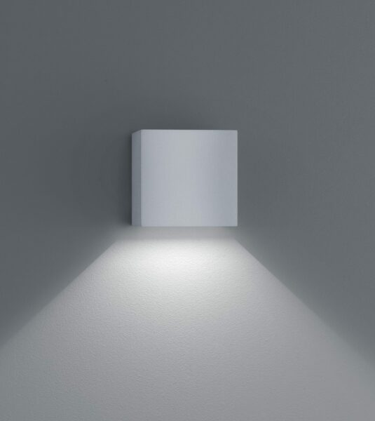 Helestra Wandaußenleuchte Siri 44 Up-/Downlight Silbergrau