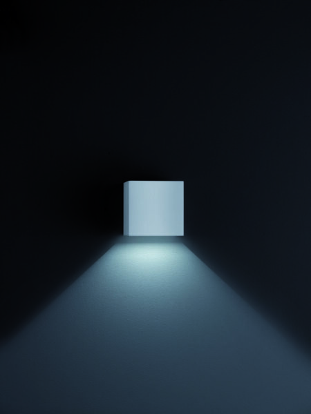 Helestra Wandaußenleuchte Siri 44 Silbergrau
