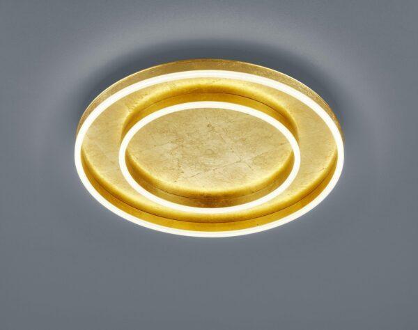 Helestra Deckenleuchte Sona 2-flammig Blattgold