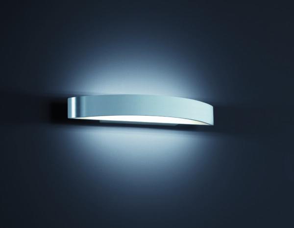 Helestra Wandleuchte Yona Aluminium poliert groß