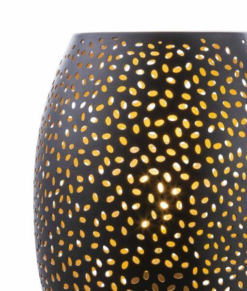 Globo Tischleuchte Narri Punkte Detail Leuchtenschirm