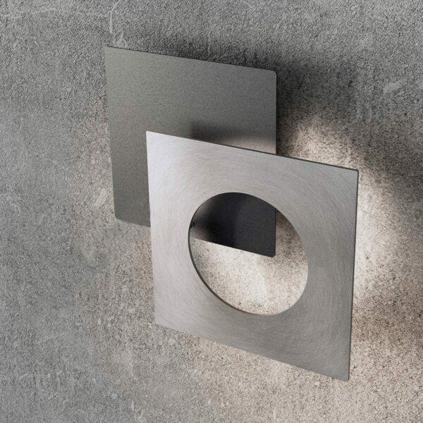 Icone Wand- und Deckenleuchte Petra Schiefer/gebürstetes Aluminium