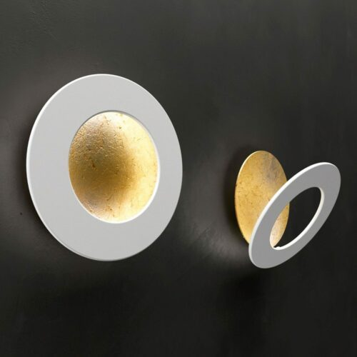 Icone Deckenleuchte Vera 26 cm Blattgold/Weiß