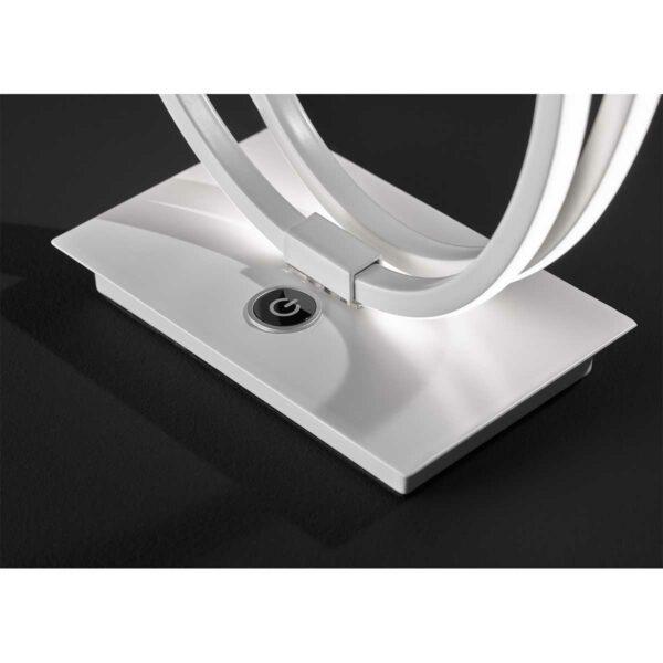 Wofi Tischleuchte Nia Weiß matt Detail