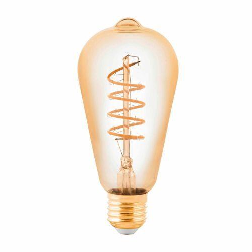 Eglo 4 W LED-Filament Edison 64 mm Amber E27 2200 K Dim / ersetzt 40 W