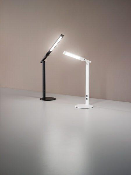 Fabas Luce Tischleuchte Ideal Schwarz und Weiß Milieu