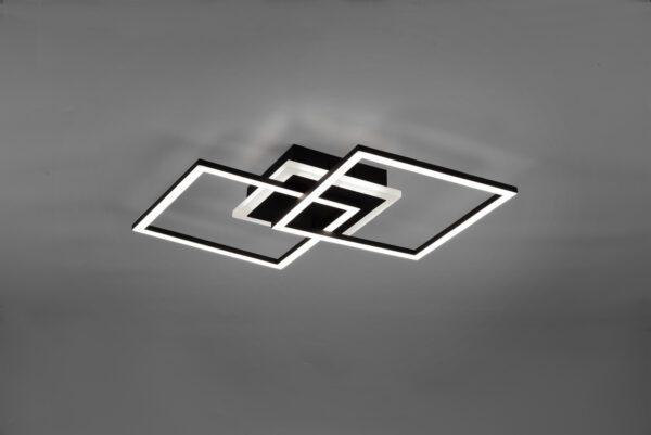 Reality Deckenleuchte Venida quadratisch Schwarz matt