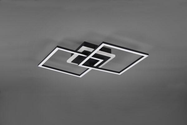 Reality Deckenleuchte Venida quadratisch Schwarz matt ausgeschaltet