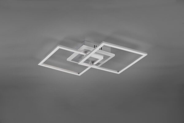 Reality Deckenleuchte Venida quadratisch Titan ausgeschaltet