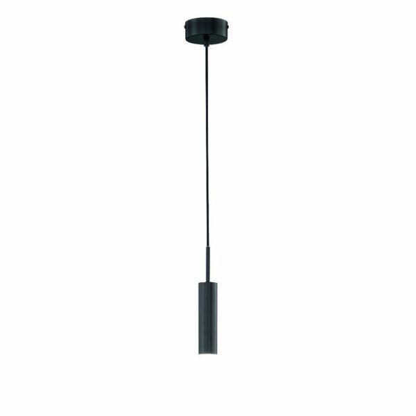 Schöner Wohnen Kollektion Pendelleuchte Stina 1-flammig Schwarz matt