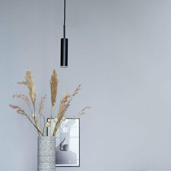 Schöner Wohnen Kollektion Pendelleuchte Stina 1-flammig Schwarz matt Milieu