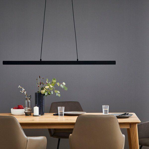 Schöner Wohnen Kollektion Pendelleuchte Stripe Schwarz matt Milieu