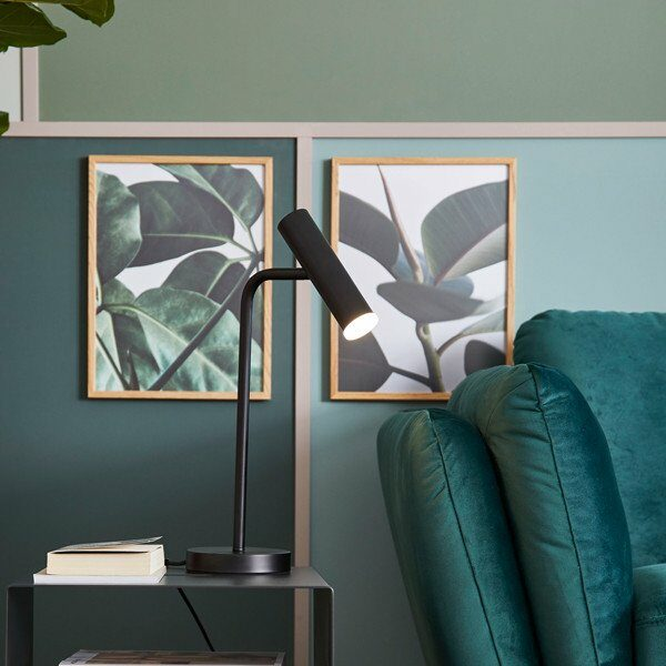 Schöner Wohnen Kollektion Tischleuchte Stina Schwarz matt Milieu