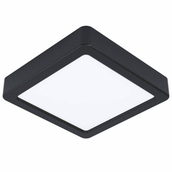 Eglo Deckenleuchte Fueva 5 quadratisch 16 x 16 cm Schwarz