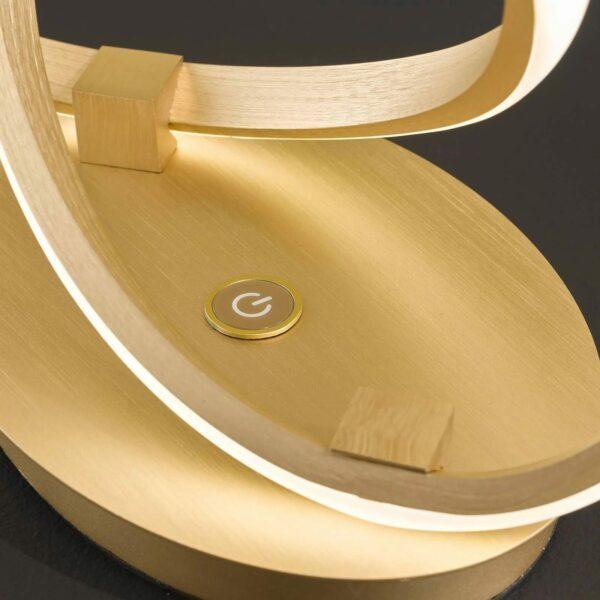 Wofi Tischleuchte Indigo Gold matt Detail Leuchtenfuß