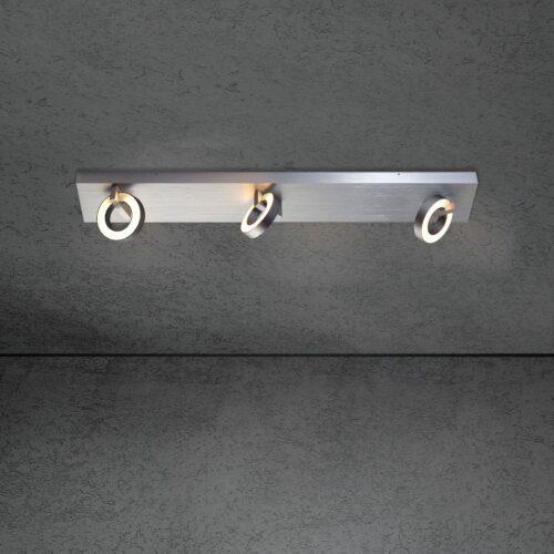 Escale 3er-Deckenspot Midnight Aluminium geschliffen/Anthrazit