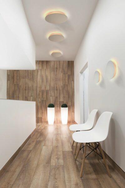 Escale Wand-und Deckenleuchte Blade Weiß Milleu
