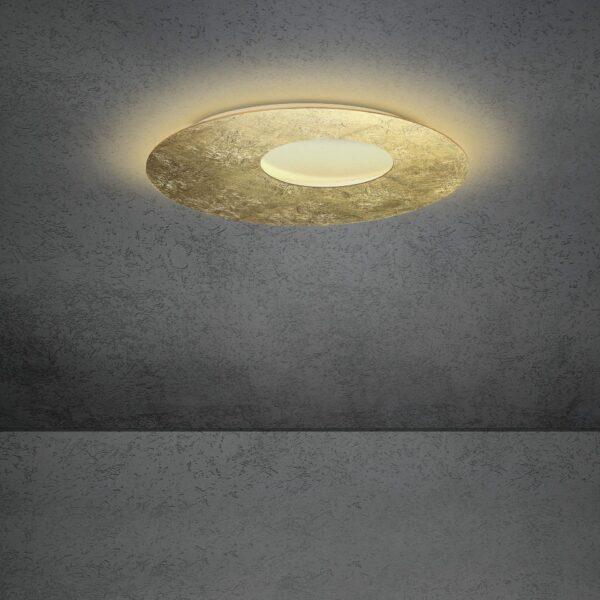 Escale Blade open Wand- und Deckenleuchte Blattgold 59cm