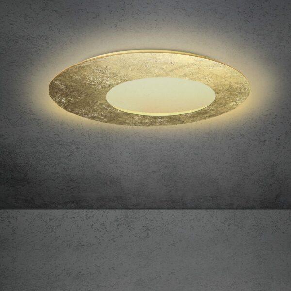 Escale Blade open Wand- und Deckenleuchte Blattgold 79cm
