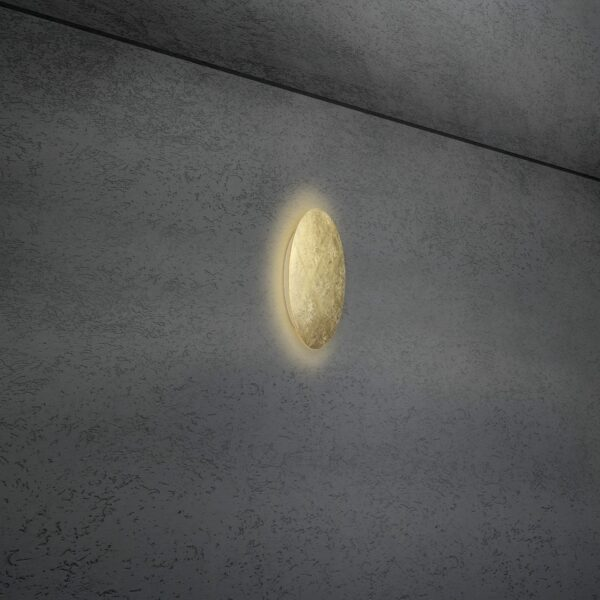 Escale Blade Wand- und Deckenleuchte Blattgold 24cm