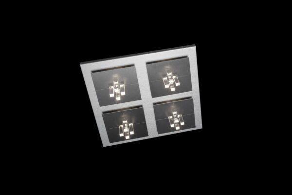 Grossmann Wand- und Deckenleuchte Four Aluminium-Hellgrau 4-flammig