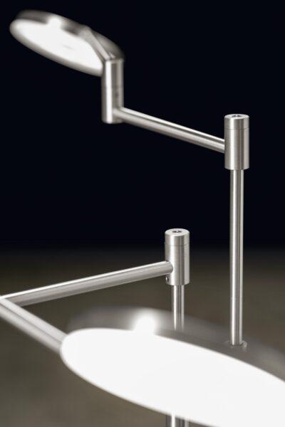 Holtkötter Stehleuchte Plano Twin Aluminium matt Detail