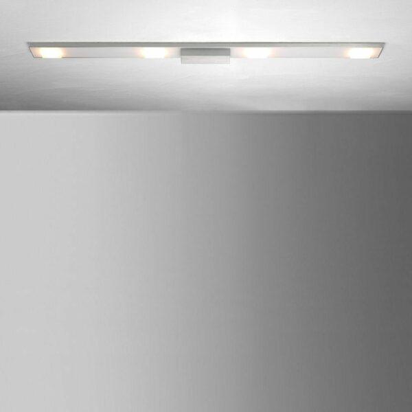 Bopp Deckenleuchte Slight HV-LED 4-flammig Aluminium geschliffen