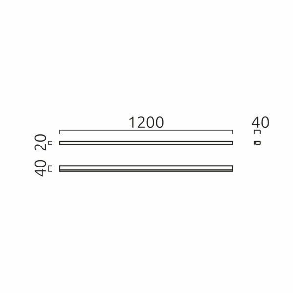 Helestra Deckenleuchte Onta 120cm Maße