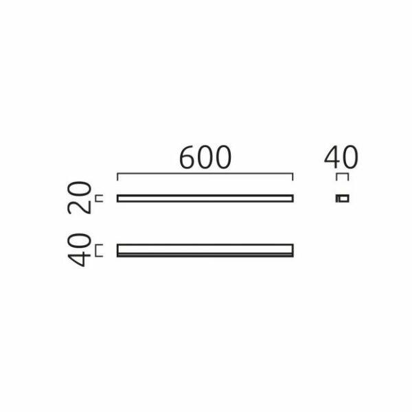 Helestra Deckenleuchte Onta 60cm Maße