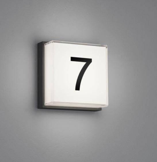 Helestra Wand-Deckenleuchte Glan Hausnummer