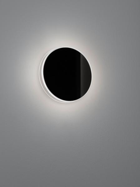Helestra Wandaußenleuchte Tour Glas schwarz