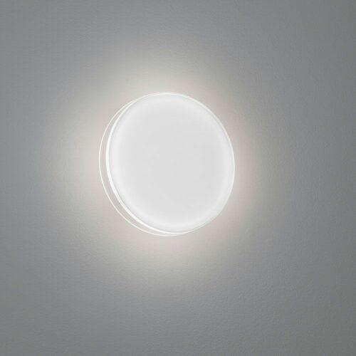 Helestra Wandaußenleuchte Tour Glas weiß