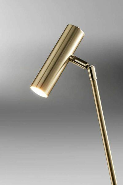 Lupia Licht Stehleuchte Crane Messing poliert/matt Detail Leuchtenschirm