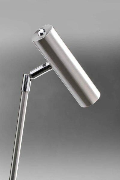 Lupia Licht Stehleuchte Crane Nickel matt Detail Leuchtenschirm