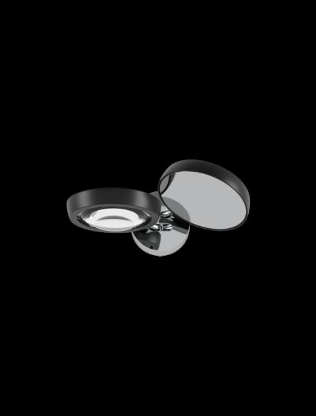 Studio Italia Design/Lodes Wandleuchte Nautilus Chrom/Schwarz matt